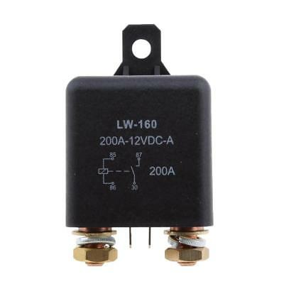 12V 200 Amp Split Charge Relay Switch 4-Terminal Relay for Truck Boat Marine