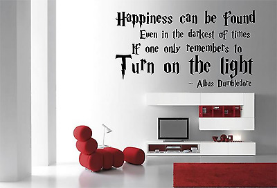 Harry Potter Film Albus Dumbledore Quote Saying Wall Art Sticker FI20