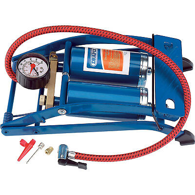 Draper Double Cylinder Foot Pump