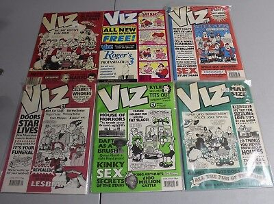 6 VIZ Magazines 32 33 43 45 48 98 1988 Small Press Indie Humor nice copies