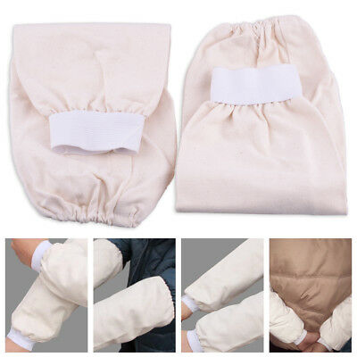 1Pair 39cm Flame Resistant Cotton Fabric Welding Protection Sleeve Arm Protector