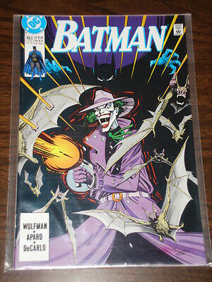 Batman #451 Dc Comics Dark Knight Nm Condition Joker July 1990