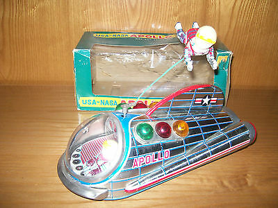Modern Toys Masudaya.apollo.vintage Spacial Tin Toy Japan. Original Box!!