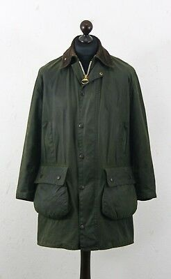 BARBOUR A 200 Border waxed jacket size C36 / 91 cm Made in England Authentic