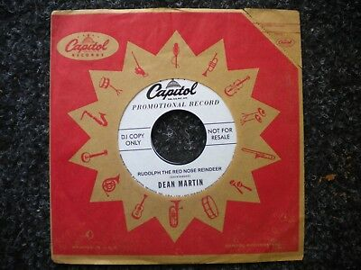 "7"" Dean Martin Rudolph the red nosed reindeer USA christmas Let it snow REISSUE"