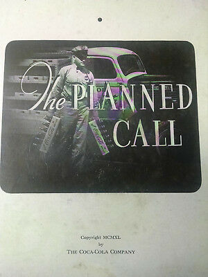 """Coca-Cola booklet-1940-PLANNED CALL""""-Guidebook-Great old Pictures Good Condition"""