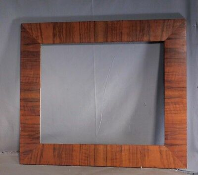 Antique Arts Crafts 16x20 Circassian Figured Walnut Mission Picture Frame WIDE