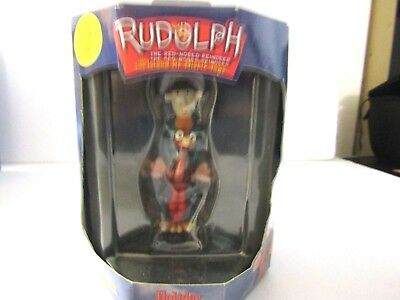 Rudolph The Red Nosed Reindeer Enesco Misfit Cowboy Ornament Mib Htf