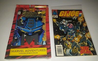 Marvel Adventures Collector's Pack Unopened Transformers 1 G I Joe 140 141 142 +