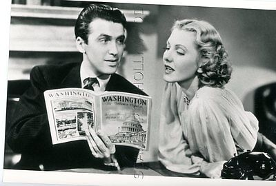 Jean Arthur James Stewart Monsieur Smith Au Senat  1939 Vintage Photo
