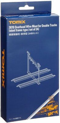 TOMIX N Scale 3078 Overhead Wire Mast for Double Tracks Steel Frame Type/24pcs.