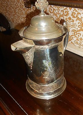 Vintage Antique St. Louis Usa Silverplated Insulated Ice Water Pitcher C. 1850