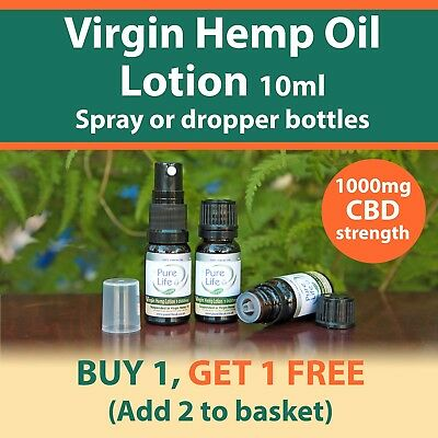 10ML VIRGIN HEMP LOTION ( contains 1000mg CBD ) for topical use BUY 1 get 1 FREE