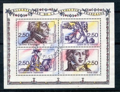 Stamp / Timbre France Neuf Bloc Feuillet Oblitere N° 13 Revolution Francaise