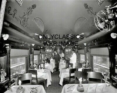 1902 Lackawanna & Western Railroad Train ELEGANT DINING CAR 8x10 PHOTO Delaware