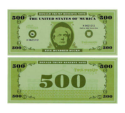 Donald Trump Fake Play Prop Money Murica TrumpedUp Novelty Gag White Elephant