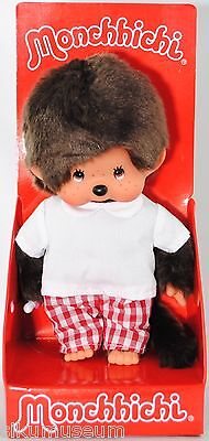Monchhichi 242856 Red Checker Boy S-size (Junge in Karo Hose), 20 cm