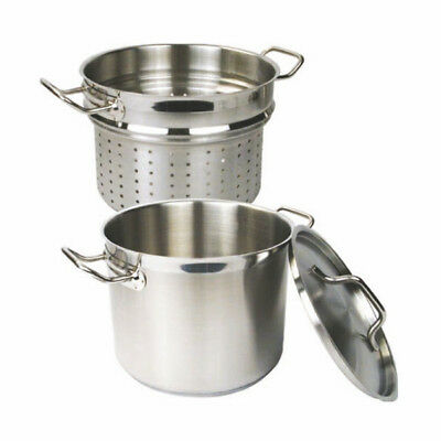 Pasta Cooker W/Lid, 3 Piece Set, 18/18 Stainless Steel, Professional, 20 Qt