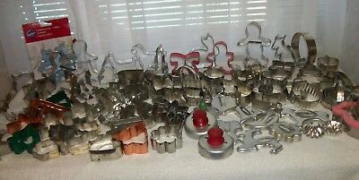 Vintage Lot of  93 Cookie Cutters mostly metal – fluted- handled