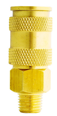 "Milton S-767 3/8"" MNPT V Style High Flow Coupler"
