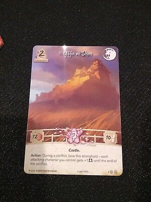 Legend of the Five Rings (L5R) LCG Yojin no Shiro Lion Acrylic Stronghold Promo