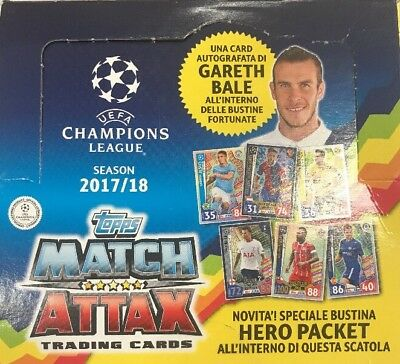CHAMPIONS LEAGUE 2017/2018 MATCH ATTAX TRADIND CARDS 1 BOX 24Bustine