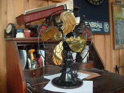"""Perfect! That Describes This 1922 Emerson#29646 12""""brass Bld.osc.3 Speed Fan++++"""