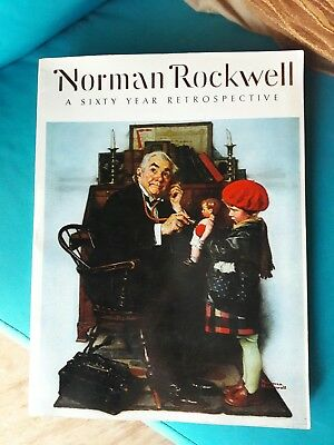 Norman Rockwell vintage Book 1972 A Sixty Year Retrospective