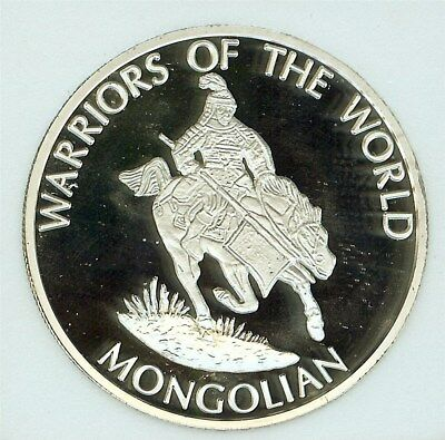 Warriors Of The World 2010 10 Francs - Mongolian - Perfect Proof Dcam