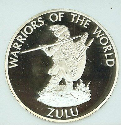 Warriors Of The World 2010 10 Francs - Zulu - Perfect Proof Dcam