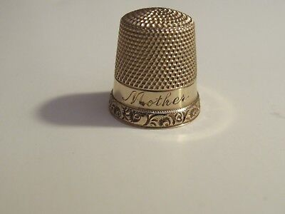 Antique Ketcham & McDougall 14K Gold Thimble Engraved Mother 2.73 Grams Size 9