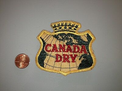 1970's Vintage CANADA DRY ginger ale PATCH Unused RARE sew on Soda Pop