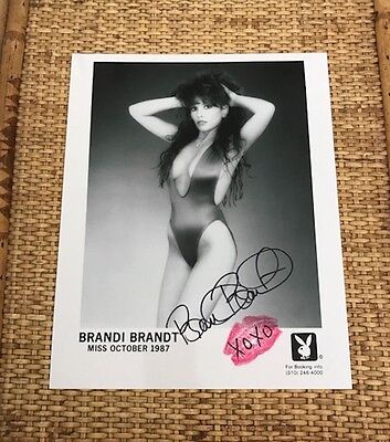 Brandi Brandt Original 8X10 Black & White Playboy Promo Shot Autograph & Kiss!!