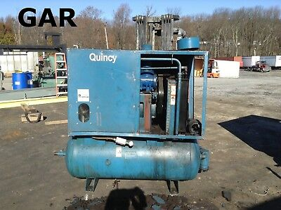 Quincy 30 HP Rotary Screw Air Compressor w/ 200PSI 180 Gallon Tank