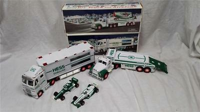 Hess Trucks- 2002 Truck Toy Truck & Airplane and 2003 Toy Truck and Race Cars