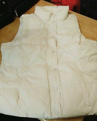 Old navy frost thick vest size xl , ivory color