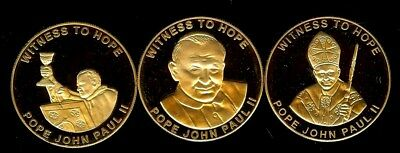 Witness To Hope 2003 Pope John Paul Ii 3 Coin Set All Perfect Proof Deep Cameo