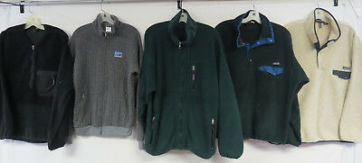 LOT OF 7 MENS PATAGONIA FLEECE JACKETS SOME VINTAGE USA MADE SYNCHILLA 90s ZIP