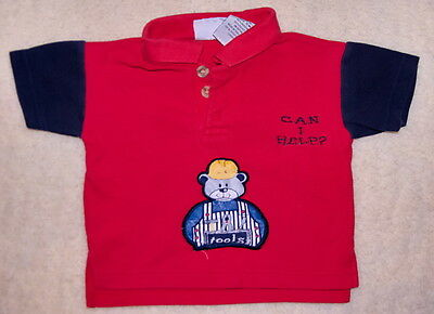 Baby - T- Shirt - Small Steps - rot - blau - Gr. 74