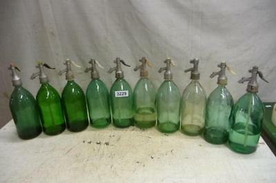 3229. 10 alte Sodaflaschen Siphonflasche Old soda siphon seltzer
