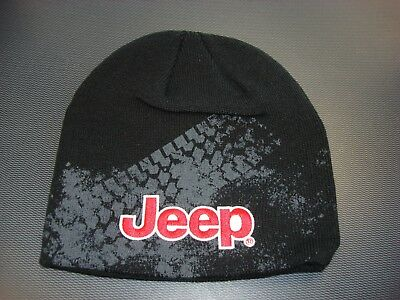 Jeep Beanie Hat Knit JEEP LOGO BLACK / RED / WHITE --FREE SHIPPING