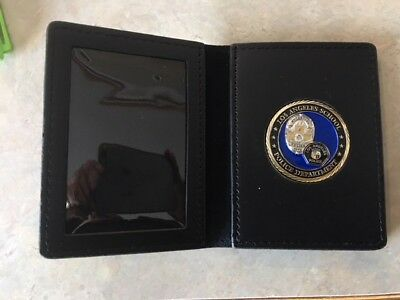 Nice leather challenge coin badge & ID case (No brand but no Big Brand cost!)