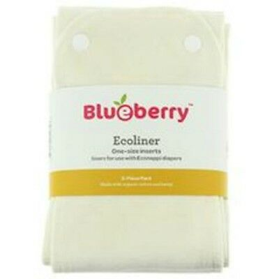 NEW NIP Blueberry Diapers ECOLINER 3 pack, One-Size Inserts