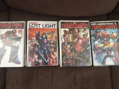 (56) Idw Transformers Comics Lot-Optimus Prime,lost Light,+More! Variants!!!
