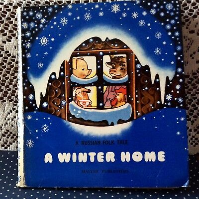 "Vintage Russian Children's Folk Tale POP-UP book 1984 ""A Winter Home"" NICE!"