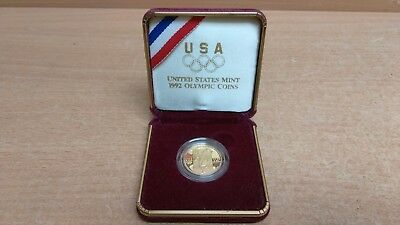1992 W USA Olympic Sprinter $5 Commemorative Gold Coin