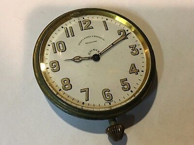 Bailey, Banks & Biddle Travel Clock 8 Day - 15 Jewels - Swiss - For Parts/Repair