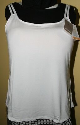 Amoena Valletta Pocketed Mastectomy Camisole Top ~ Size 20 ~ WHITE Post Surgery