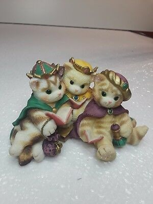 1999 Enesco CALICO KITTENS  We Three Kings