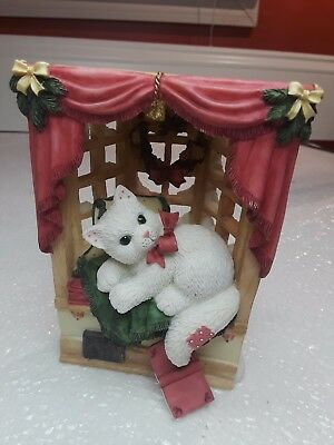 2000 Enesco CALICO KITTENS  Wintery Retreat
